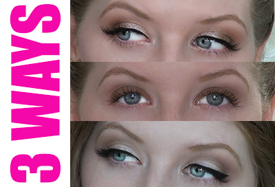 3 Ways to Wear 3 Shades of Eyeshadow