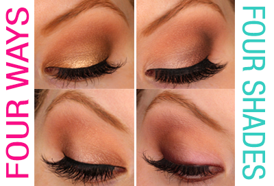 4 Ways to Wear 4 Shades (Chocolate Bar Palette)