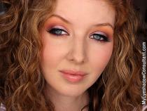 Purple-Orange Sunset Inspired Eyeshadow Tutorial